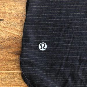 Lululemon Black Semi Sheer Striped Racerback